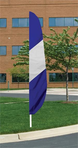 STRIPED FEATHER FLAG NYLON 12 FT, ALL SEWN, LONGES LASTING