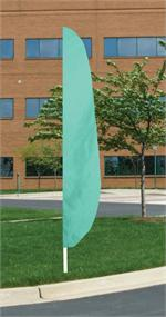 FEATHER FLAG AQUA 12 FT NYLON