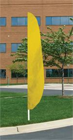 FEATHER FLAG 12 FT BRIGHT FM YELLOW $ 36
