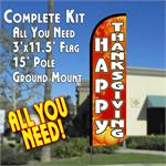 HAPPY THANKSGIVING FEATHER FLAG OR COMPLETE KIT