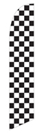 CHECKERED RACE FEATHER FLAGS 11 FT, ON SALE