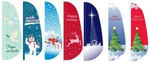 Holiday Feather Flag 12 ft
