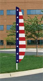 FEATHER FLAG STARS AND STRIPES PATRIOTIC MADE IN THE USA, AS LOW AS $ 50 EACH