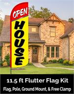 OPEN HOUSE FEATHER FLAG KIT 14 FT TALL